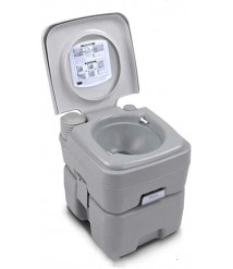 APXZC 20L Portable Camping Travel Toilet, with Detachable Tank, Sturdy Stable Durable Leak Proof Comfortable Tasteless, Quick Clean, for Camping Self-Driving Tour