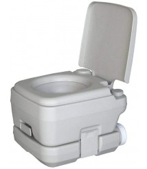 2.8 Gallon Portable Toilet, 10L Outdoor Travel Toilet- Removable Water Tank Handy Handle Easy to Rinse Leak Prevention - for Camping, RV and Boat
