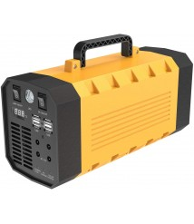 500W 288WH Portable Energy Storage Power Station Pure Sine Wave Inverter Generator Emergency Battery Backup Power Supply Charged by Solar/Car Emergency LED Flashlights for Camping Outdoor Adventure