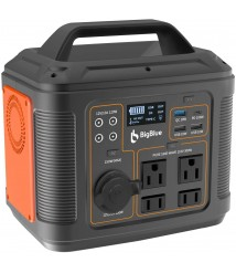 BigBlue [PD 100W Type-C] Portable Power Station, 296Wh/80000mAh Solar Generator with MPPT, 110V/300W Pure Sine Wave AC(Peak 600W)/4 DC/4 USB Ports, CPAP Backup Battery with 18W Flashlight for Camping