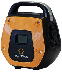 BEE FORCE New Portable Solar Generator and Power Bank 300Wh Battery Capacity, 600W Peak Power, 300W Continuous Power. Power Station for Camping Trips, Emergencies, CPAP Devices, Power Storage.