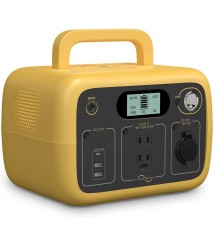 BLUETTI Portable Power Station AC30S,300Wh 300W Solar Generator w/ LiFePo4 Cell AC Outlet Battery Backup for Camping Travel Road Trip Lighting Home Emergency Outdoor(Yellow)