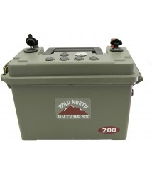 200 Series Portable Generator Power Station | Bundle Includes Portable Solar Power Station, 18aH Lithium LifePO4 Battery & 3A Charger | Great for Tailgate, Ice Fishing, Camping, Emergencies