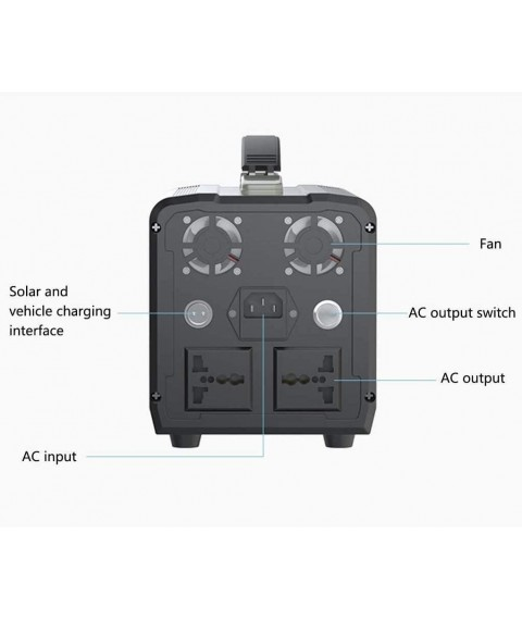 CHUXJ Outdoor Generators, Portable Power Station Solar Generator with 110V AC Outlet/DC Ports/USB Ports/Car Port, Backup Battery for Outdoor Adventure Road Trip Camping Emergency (Size : 220V)